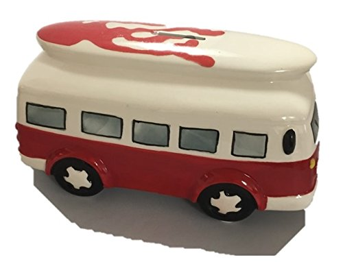 Giftworks Camper Van Spardose Surfer Savings Bank, 21 cm