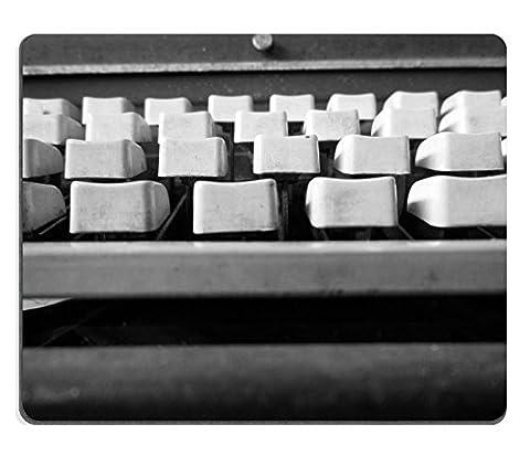 MSD Natural Rubber Mousepad IMAGE 25582207 Close up of antique typewriter keys vintage retro