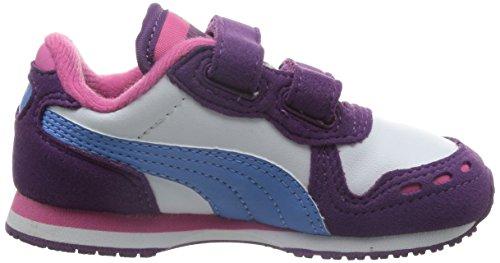 Puma Cabana Racer SL V Kids Unisex-Kinder Sneakers lila/white/blue