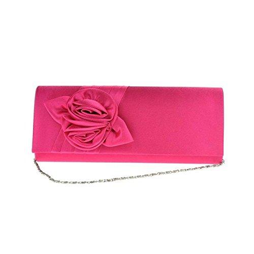 Donne Roses Borsa Elegante Cerimonia Nuziale Del Sacchetto Di Sera Sacchetto RoseRed