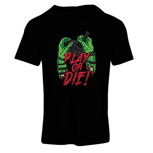 Frauen T-Shirt Spielen oder sterben - nur für Spieler! (Large Schwarz Mehrfarben) Besten Amd Laptop