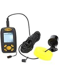 Docooler 25ft Kabel Fish Finder Angeln Tiefe Sonar Sensor Alarm Transducer Fishfinder 100m