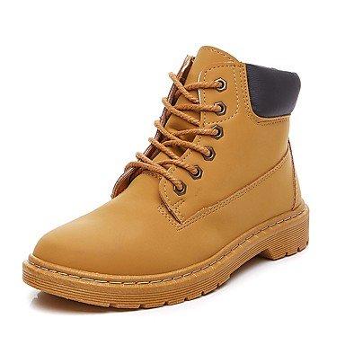 Rtry Femmes Chaussures Microfibre Synthétique Pu Automne Hiver Bootie Lutte Bottes Bottes Bottines / Bottines Pour Extérieur Casual Noir Brun Us7.5 / Eu38 / Uk5.5 / Cn38