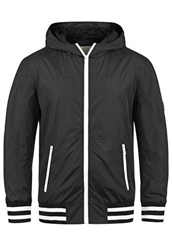 Blend Novan Herren Übergangsjacke Herrenjacke Jacke mit Kapuze, Größe:S, Farbe:Black (70155) (Schwarze Kapuzen-jacke)