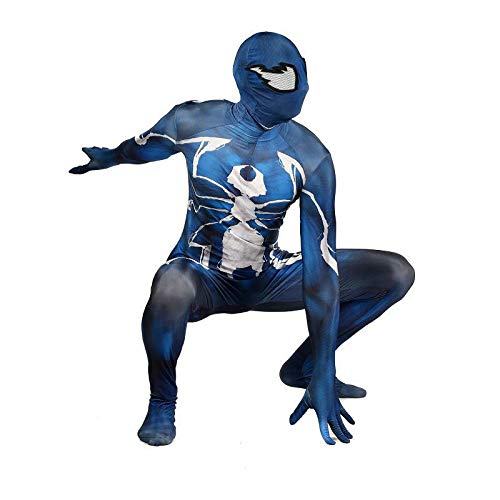 DFRTYE Erwachsene Kinder Schwarzes Spiderman Halloween Kostüm Overall 3D Print Spandex Spiderman Cosplay Body,Adult-XXXL