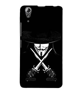 99Sublimation Devil with Sword and Hat 3D Hard Polycarbonate Back Case Cover for Lenovo A6000 Plus