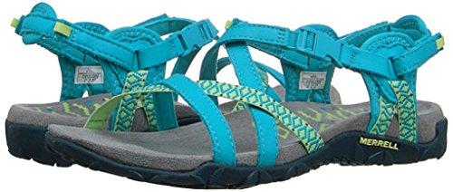 Merrell Women's Terran Lattice II Heels Sandals, Bleu (TEAL), 4 UK