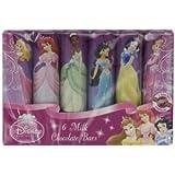 Six Disney Princess Chocolate Bars