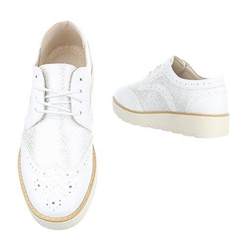 Ital-Design , Chaussures à lacets femme Weiß 62016