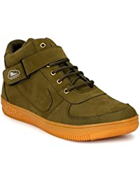 Brooke Trendy Men's Green Ankle Length Casual Shoes