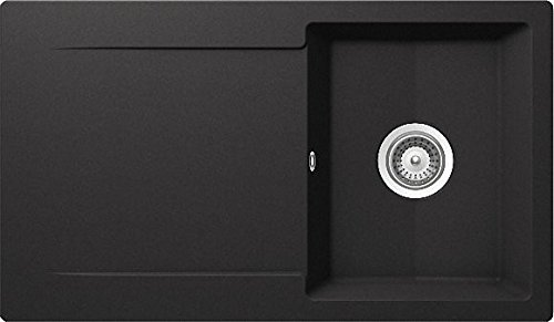 Schock Epure D-100 A Nero Granit-Spüle Schwarz Auflage Küchenspüle Einbauspüle