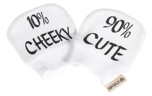 SR - 90% Cute 10% Cheeky - 100% Biobaumwolle Kratzhandschuhe