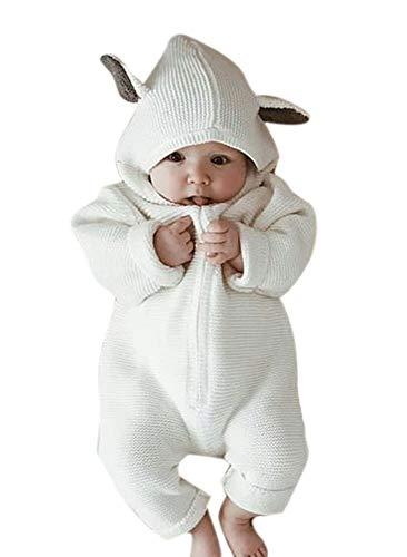 Hellomiko Hooded Strampler Overall Kaninchen 3D Ohr Baby Winter Kleidung Outfits Niedlichen Tier Baumwolle Unisex Strampler 0~18 Monate