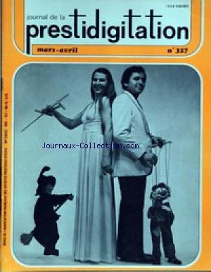 JOURNAL DE LA PRESTIDIGITATION [No 327] du 01/03/1979 -