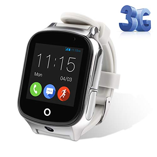 GPS Watch, Kids Smartwatch Waterproof IP65 SOS Call function GPS WIFI LBS Real Time Tracking Health Steps Activity Tracking Boys Girls Gift (Gray)