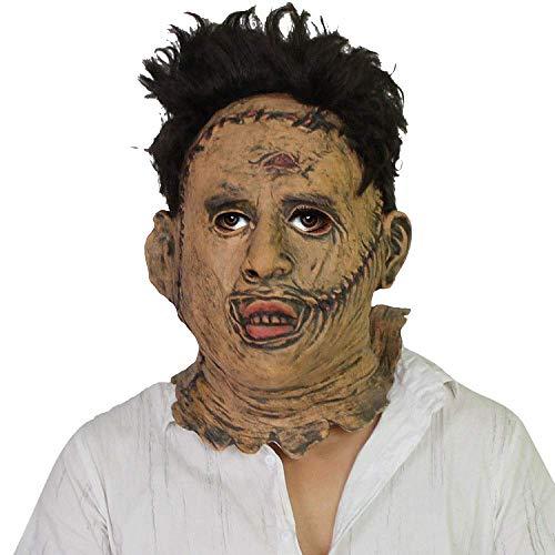 Kettensägen Kostüm Mann - Wsjfc Halloween Scary Maske, Kettensäge Killer Maske, Urlaub Lieferungen, Bar, Tanz, Show Hood Requisiten, Picturecolor,Bildfarbe