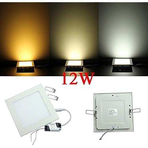 La luz del panel de Dimmable 12W Square ultrafino de techo ahorro de energía LED.
