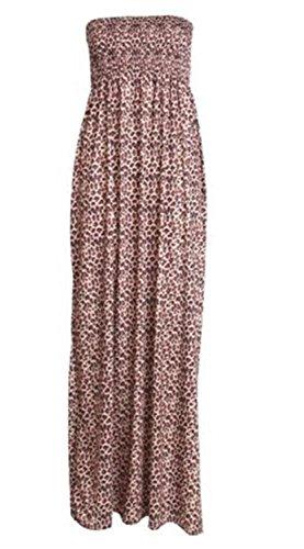 Xclusive Collection Damen Schulterfrei Kleid Leopard Print