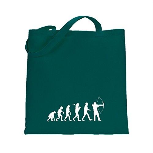 Shirtfun24 Baumwolltasche EVOLUTION BOGENSCHIESSEN Bogen schiessen, emerald (grün) emerald grün