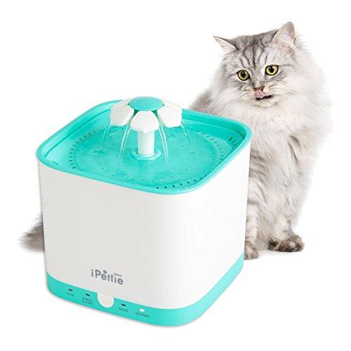 iPettie Neko NS Katzen Trinkbrunnen 2L Automatischer mit Super Ruhiger Pumpe und Austauschbarem Filter, Super Leise Automatischer Elektrischer Wasserspender für Katzen und Hunde (Radar)
