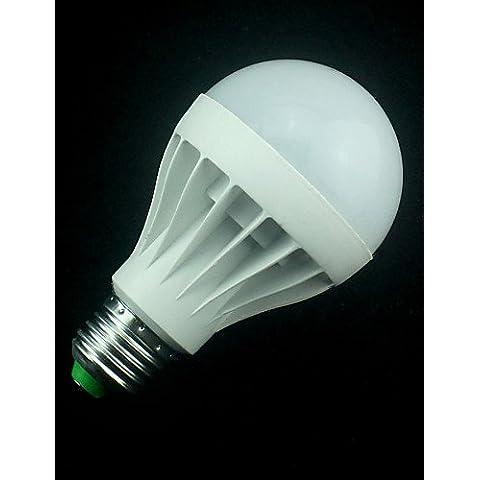 ZSQ 1pcs LED Lámpara LED E27 bombilla LED Bola LED Spot Light led 110V 5630 SMD 9W LED Linterna Spotlight , cálido blanco #5741