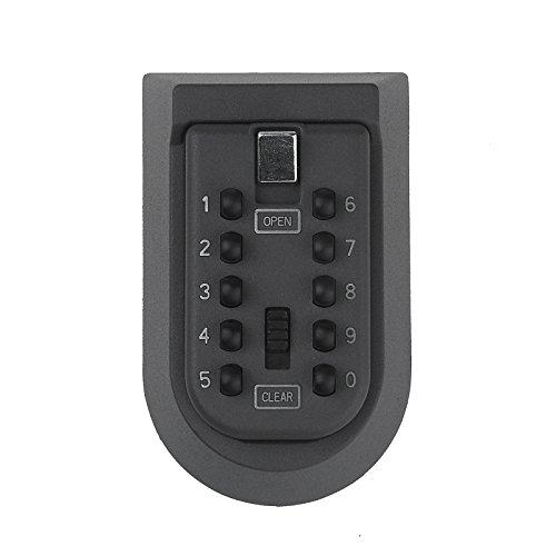 Sinbide® kleiner Schlüsseltresor Schlüsseltresor außen Schlüsselsafe aussen Schlüsselkasten mit Zahlenschloss für draußen Tresor für zu Hause Schlüsselschrank Schlüsselbox mit Code Schlüsselkästchen