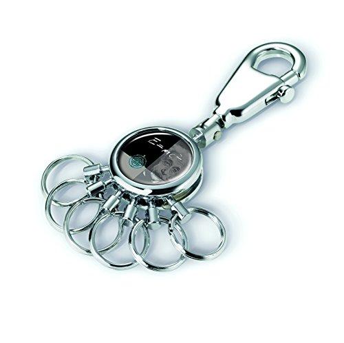 TROIKA PATENT RELATIV SCHLÜSSELHALTER - #KYR01-A045 - glänzend - Schlüsselanhänger - Karabiner - 6 aushakbare Ringe - Schlüsselorganisation - Physik - für Einstein-Freunde - TROIKA-Original