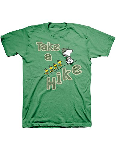 Snoopy Take a Hike Green T-Shirt, Woodstock's Beagle Scouts