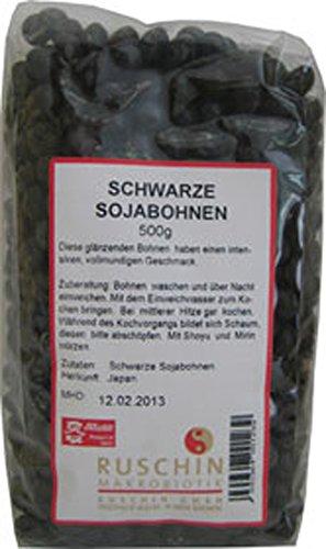 2er-SET Schwarze Sojabohnen - Nicht Bio- 500g Ruschin
