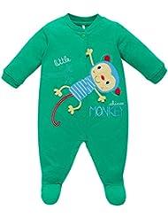 CHICCO - Baby Mädchen Jungen Strampelanzug Strampler Overall AFFE in grün