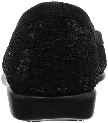 Aerosoles Tea Shop Toile Chaussure Plate Black Sparkle