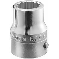 FACOM 3/4 Zoll Steckschlüssel 12 Kant, SW 40, 66,9 mm lang, 1 Stück, K.40B