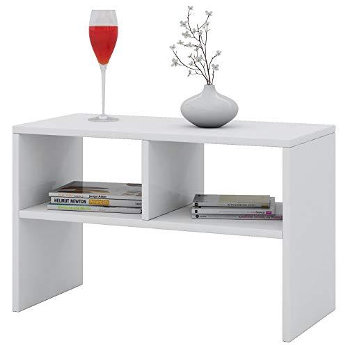 """VCM Tisch Sofatisch Beistelltisch Couchtisch Wohnzimmertisch Kaffeetisch Nachttisch Weiß 45 x 60 x 40 cm \""""Nachto\"""""""