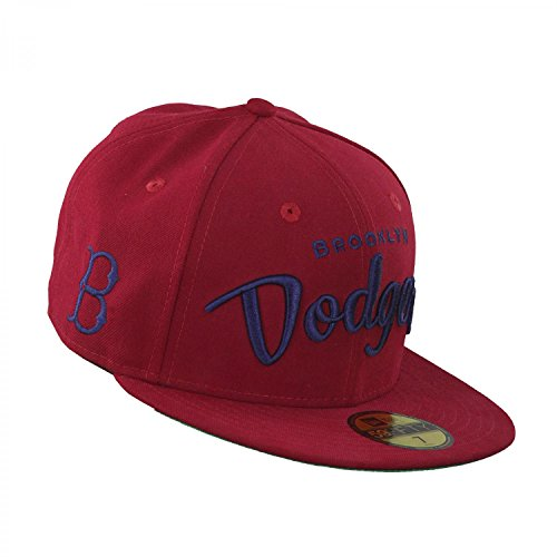 New Era City Arch Brooklyn Dodgers Cap 5950 Basic Fitted Team Basecap Cap Kappe Bordeaux