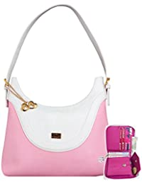 Anglopanglo Latest Trend Pink Color Party Wear Handbag & Wallet Combo For Girls And Women