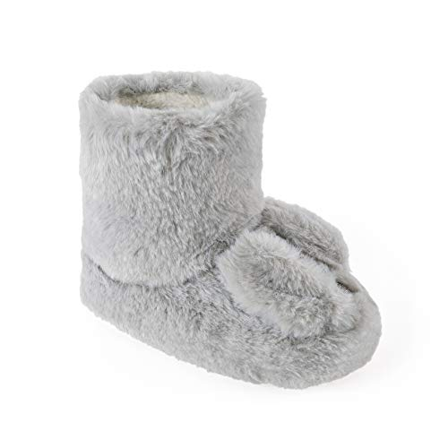 Girls Cute Bunny Rabbit Ears Fluffy Soft Faux Fur Cosy Ankle Slipper Boots