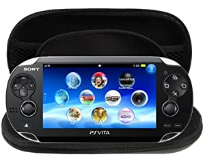 LUPO® Portable Hard Shell Bag with Shock Absorbsion for PS Vita / PSP, Size: 195 x 100 x 32mm - Provides Secure Protection