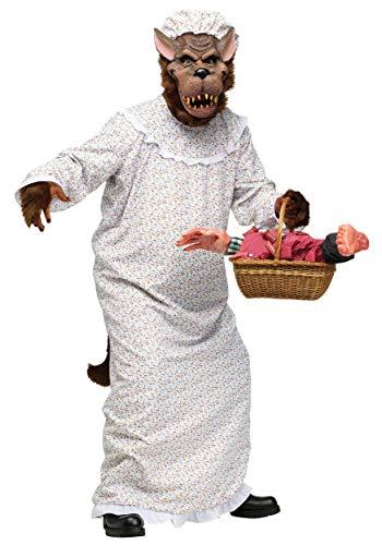 Adult Big Bad Wolf Kostüm - Unbekannt Big Bad Granny Wolf Fancy