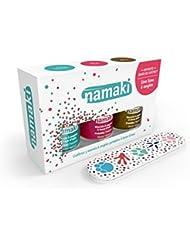 NAMAKI - avec 3 vernis à ongles à base d'eau - Verte Eau Corail Bronze - Avec une lime à ongles - Facile...