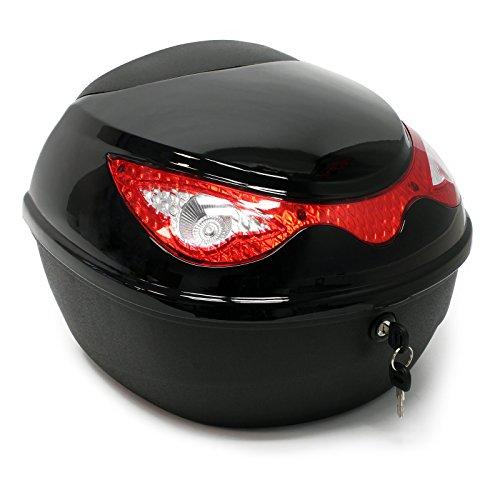 Top Case/Koffer für Roller, Motorrad oder Quad, 22 Liter, schwarz