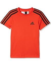 adidas Yb 3S tee Camiseta, Niños, Negro (Rojo), 116 (5