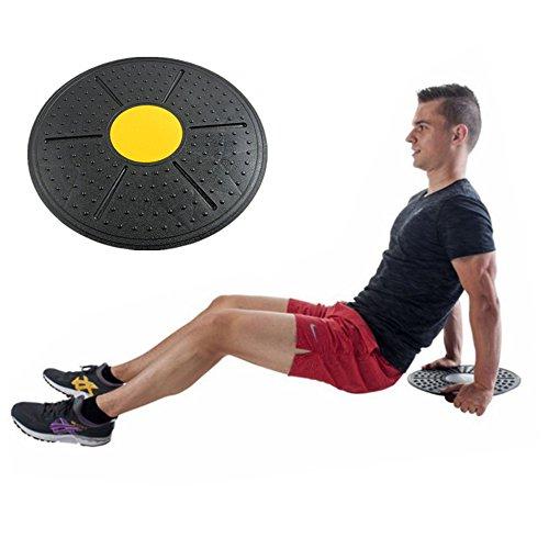 BulzEU- Unisex-Balance-Board, Schwarz, Wackelbrett, Haltungstrainer, Wippbrett, für Damen, Herren, Fitness, Workout, Yoga, Pilates, Rehabilitationstraining