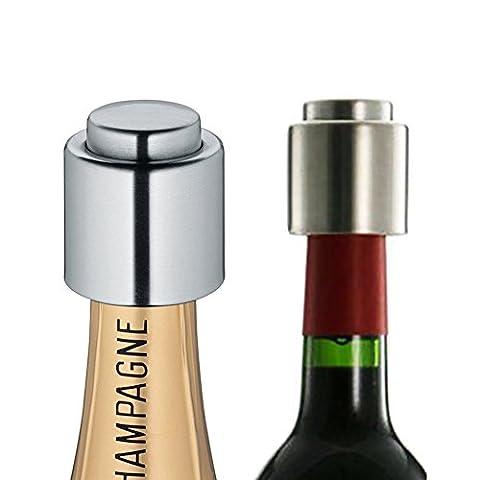 remplis en acier inoxydable Vacuum Sealed Bouteille de Vin Bouchon pour Prolonger la durée et de préserver Ouvre bouteilles de vin et champagne