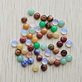 Wholesale 100pcs/lot Fashion Assorted Natural Stone Round cab cabochon Beads for Jewelry Accessories 6mm Free