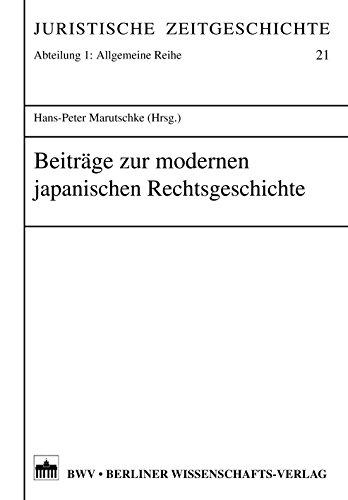 Beiträge zur modernen japanischen Rechtsgeschichte (English Edition)