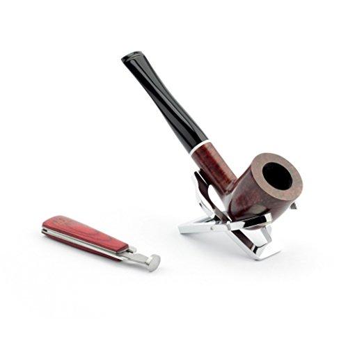 A.P. Donovan - set tabacco da pipa fatta di radica di legno - a mano - colore può variare (con fischio-vetro), per i filtri 9mm e intenditori - Kinich Ahau