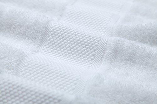 lista dei prezzi SUMC Set asciugamani con 6 asciugamani e 6 salviette in cotone Asciugamani da 12 pezzi in cotone morbido Asciugamano Bale Asciugamani da hotel di alta qualità e morbidi Super Assorbenti per famiglie Ospiti in famiglia (Bianca)