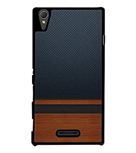 PrintVisa Jeans Plywood Pattern High Glossy Designer Back Case Cover for Sony Xperia T3