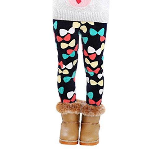 Warm Hose Dicke Samt Leggings Kinder Baby Bleistift Hosen (140, Mehrfarbig) (Sie Alle Feiertage In Ordnung)