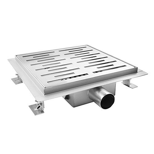 AQUADE 20x20cm Duschablauf Duschrinne Ablaufrinne Edelstahlrinne Bodenablauf Modell: 80096 (Größen 15cm - 25cm)